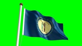 Kentucky flag. Seamless  green screen stock video footage