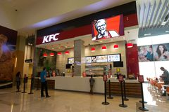 Kentucky Fried Chicken in Dubai, United Arab Emirates Royalty Free Stock Images