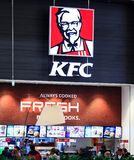 Kentucky Fried Chicken KFC Podpisuje Zdjęcia Stock