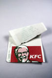 Kentucky Fried Chicken receipt  Royalty Free Stock Photo