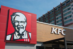 Kentucky Fried Chicken restauraci znak Fotografia Royalty Free