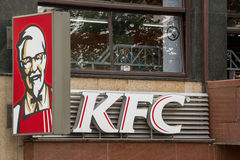 Kentucky Fried Chicken restauraci znak Obrazy Royalty Free