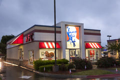 Kentucky Fried Chicken Restaurant at night Stock Images
