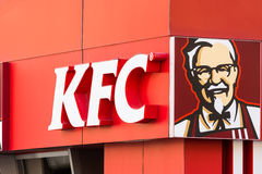 Kentucky Fried Chicken Restaurant Sign Lizenzfreies Stockfoto