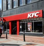 Kentucky Fried Chicken shop. Reading, United Kingdom - April 26 2018:   The frontage of KFC on Broad Street Stock Photos