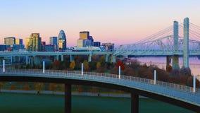 kentucky Louisville linia horyzontu wschód słońca fotografia royalty free