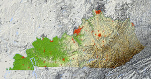 kentucky mapy ulga Fotografia Stock