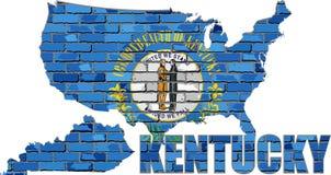 Kentucky på en tegelstenvägg Royaltyfri Foto