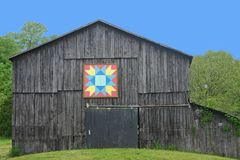 Kentucky Quilt Barn. A barn in Kentucky with a quilt pattern attached Stock Photo