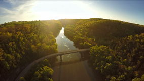 Kentucky River Palisades stock footage