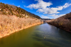 Kentucky River Palisades. Scenic view of the Kentucky River and Palisades in fall Stock Photo