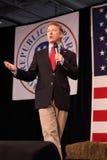 Kentucky Senator Rand Paul speaking in front of flag. Stock Photography