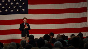 Kentucky Senator Rand Paul speaks. Iowa Republican Growth and Opportunity Party, October 31, 2015, Des Moines, Iowa. Kentucky Senator Rand Paul. Horizontal in stock photo