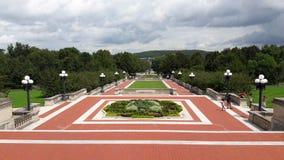 Kentucky stanu Capitol budynek frankfort czerwoni kroki fotografia royalty free