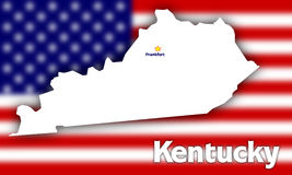 Kentucky state contour Stock Photo