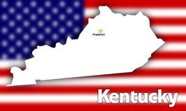 Kentucky state contour stock photo