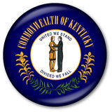 Kentucky State Flag Button. Glassy Web Button with the flag of the state of Kentucky, USA Stock Photos