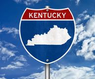 Kentucky state map Stock Photography