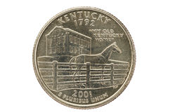 Kentucky State Quarter Coin Royalty Free Stock Photo