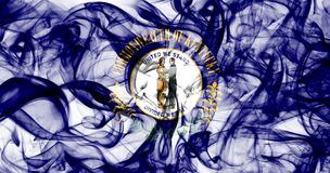 Kentucky state smoke flag, United States Of America.  stock images