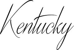 Kentucky-Textzeichenillustration Lizenzfreie Stockfotos