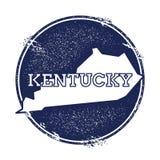 Kentucky vektoröversikt royaltyfri illustrationer
