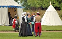Kentwell Hall Recreation av Tudor Life - 1584 (2007) Royaltyfri Foto