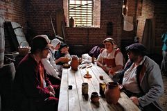 Kentwell Hall Recreation av Tudor Life - 1584 (2007) Royaltyfri Bild