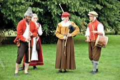 Kentwell Hall Recreation di Tudor Life - 1584 (2007) Immagini Stock Libere da Diritti