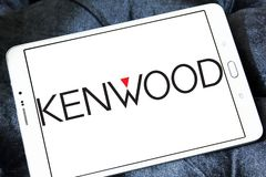 Kenwood Corporation logo. Logo of Kenwood Corporation on samsung tablet. Kenwood is a Japanese company that designs, develops and markets a range of car audio Royalty Free Stock Image