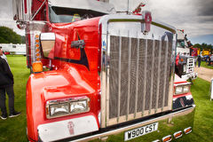 Kenworth red truck front close up Royalty Free Stock Image