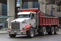 Kenworth T880 usypu ciężarówka Fotografia Royalty Free