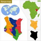 Kenya översikt Arkivbild