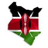 Kenya översikt med flaggan vektor illustrationer