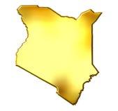 Kenya 3d Golden Map Royalty Free Stock Photo