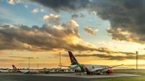 Kenya Airways Dreamliner royalty free stock image