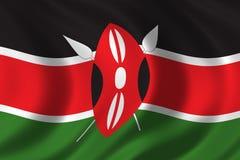 Kenya bandery Zdjęcie Stock