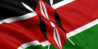 Kenya bandery Obrazy Royalty Free