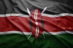 Kenya bandery Fotografia Stock