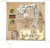 Kenya - bilder av liv, stock illustrationer