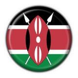 Kenya button flag round shape Stock Images