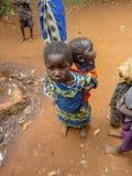 Kenya children. Children at Bwayi, Kenya. Bwayi is Bwayi, a rural farming village outside of Kitale, Kenya royalty free stock images