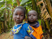 Kenya children. Childrens at Bwayi, Kenya. Bwayi is Bwayi, a rural farming village outside of Kitale, Kenya royalty free stock photography