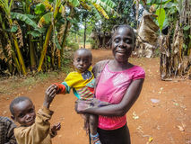 Kenya children. Family at Bwayi, Kenya. Bwayi is Bwayi, a rural farming village outside of Kitale, Kenya stock photos