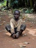Kenya children. Unidentified boy at Bwayi, Kenya. Bwayi is Bwayi, a rural farming village outside of Kitale, Kenya stock photo