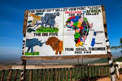 KENYA - DECEMBER, 2014: Great Rift Valley viewpoint Stock Photography