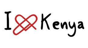 Kenya förälskelsesymbol Arkivfoton