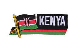 Kenya flag. Royalty Free Stock Photos