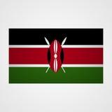 Kenya flag on a gray background. Vector illustration Royalty Free Stock Image