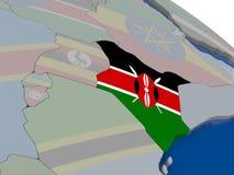 Kenya with flag Stock Photos